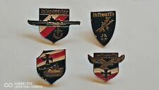 More details for reduced set four collectable german military war pin badge badges medals medal