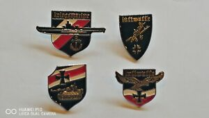 REDUCED Set Four Collectable German Military War pin Badge Badges Medals Medal