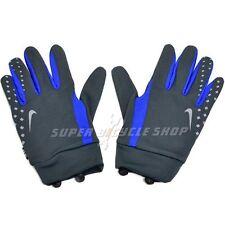 NIKE Men's Light Weight Running Long Finger Gloves , Black x Blue