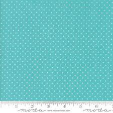 Moda FIRST ROMANCE Blue Aqua Dots 8408 20 Kristyne Czepuryk QUILT FABRIC