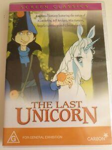 The Last Unicorn. DVD. Kids movie. PAL Region 4