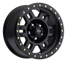 "17"" Vision 398 Manx Matte Black Wheel 17x8.5 5x5 0mm Jeep Wrangler 5 Lug Rim"