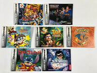 Game Boy Advance.  Instruction Booklets. Lot Of 7.