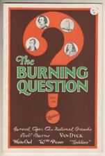 "General Cigar Company  1926   Promotional Magazine  ""The Burning Question"""
