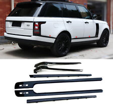 Black Long Door Side Molding Guard Fit f Land Rover Range Rover Full Size 13-18