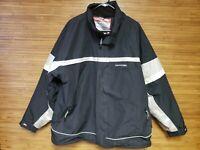 Tresspass Black Full Zip Snow Ski Jacket Mens Size XL