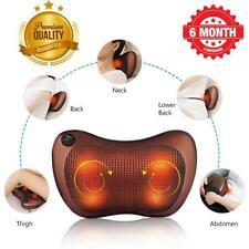 Electric Shiatsu Cervical Massager Pillow Heat,Back Neck Lumbar Home/Car/Cushion
