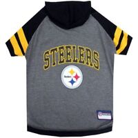 Pittsburgh Steelers NFL Pets First Sporty Dog Pet Hoodie Tee Shirt Sizes XS-L