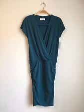 VELVET By Graham & Spencer Viviana Keyhole Stretch Jersey Dress Teal Blue S $178