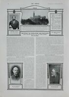 1902 PRINT KING EDWARD 1868 GLASGOW UNIVERSITY FOUNDATION STONE GEORGE MEREDITH