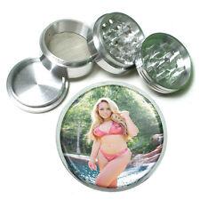 "California Girls Pin Up D2 Aluminum Herb Grinder 2.5"" 63mm 4 Piece"