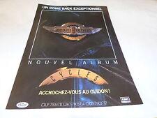 THE DOOBIE BROTHERS - Publicité de magazine / Advert !!! CYCLES !!!!!!!