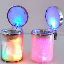LED LIGHT PORTABLE CAR VEHICLE CIGARETTE ASHTRAY HOLDER CUP STAND BUCKET STRICT