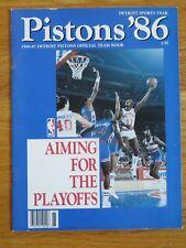 1986 DETROIT PISTONS Team Book Playoff ISIAH THOMAS DENNIS RODMAN ADRIAN DANTLEY
