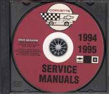 1994-1995 Corvette Shop Manual Sets on CD-ROM Chevy Repair Service Chevrolet