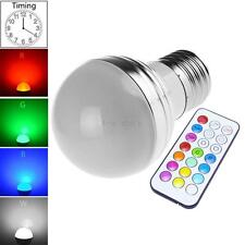 E27 RGB 16 Color 3W LED Spot Bulb Crystal Light Bulb Lamp with IR Remote Control