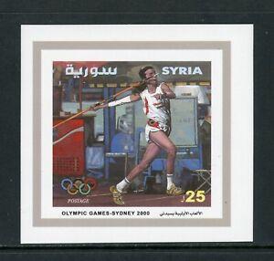 Syria Scott #1457 MNH S/S OLYMPICS 2000 Sydney $$