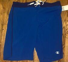 Rare Champion Mens Swim Trunk Shorts Size XL 40-42 Blue Short Fit