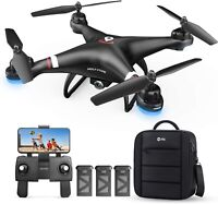 Holy Stone HS110G GPS Drone with 1080P Wifi Camera FPV Quadcopter 2 Battery +Bag
