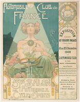 Original Vintage Poster - Privat Livemont - 5ème Salon Automobile Cycle Sports