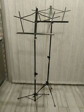 Compact, Folding, Adjustable 2 On Stage Music Stand W Carry Bag