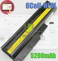 5200mAh Battery for IBM Lenovo ThinkPad T60 T60p T61p T61 Series 42T4511 Laptop