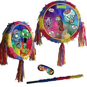 2021 Zombie Piñata Party Game Fun scary creepy Halloween Smash Stick Kids theme