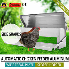 AUTOMATIC ALUMINUM CHICKEN FEEDER CHOOK POULTRY BRAND NEW RAT PROOF SIDE GUARDS