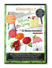 Kimberbell Welcome Spring Bench Pillow Embroidery CD KD516