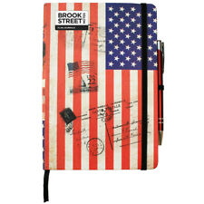 USA Flag Notebook - Hardback A5 - Stars and Stripes Notebook - Flag Journal
