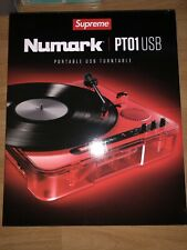 Supreme Numark PT01 Portable Turntable Red SS20 100% Authentic - Free Shipping