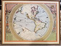 The New World Vincenzo Maria Coronelli 1695 Map Vintage Wall Art 30 x 22 Litho