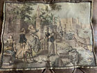Antique Italian Tapestry With Courtyard Scene
