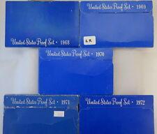1968 - 1972 U.S. PROOF SETS (5 SETS)