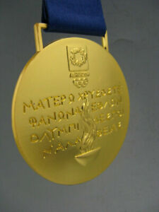 Athens 2004 Olympic Gold Medal with Ribbons & Display Stands *Free Shipping*