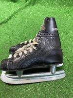 vtg Sherbrooke Bobby Orr Ice Hockey Skates Youth Black Rally Pro Mint Condition