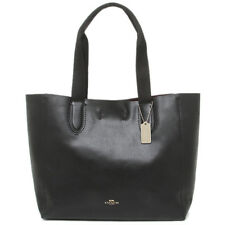 NWT COACH F59818 LG DERBY Tote In IMLON - BLACK/Oxblood Pebble Leather $350