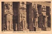 uk33435 thebes medinet habu temple of rameses III real photo egypt