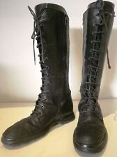 Zip Low (3/4 in. to 1 1/2 in.) Leather Slim Boots for Women