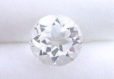 TWO 6mm AAA Round Natural Bolivian White Topaz Gem Stone Gemstone EBS627