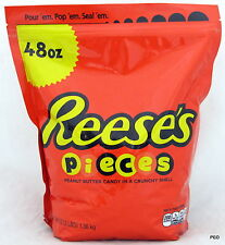 Reese Pieces 48 oz Bag Bulk Candy Reeses Peanut Butter 3 Pounds Reese's