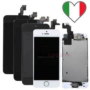 TOUCH SCREEN + LCD DISPLAY ORIGINALE PER IPHONE 5 5S 5C SE COMPLETO SCHERMO