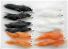 Zonker Trout Flies, 12 Mixed Colour Booby Zonkers, Size 10 , For Fly Fishing