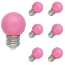 6X E27 Farbig LED Leuchtmittel Birnenform Bunt Tropfenlampe Glühbirnen Pink