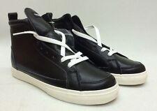 The Hundreds Wayne High Premium Black Leather Sneaker Men's Shoes Sz 8.5 BNIB