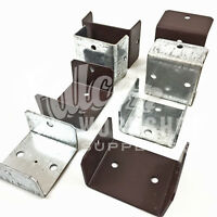 45mm 52mm GALVANISED BROWN FENCE & TRELLIS CLIPS BRACKET PANEL FIXING