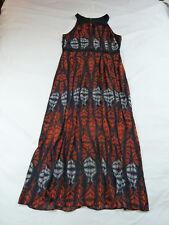 City Chic XS 14 Maxi Dress Empire Waist Peekaboo Bust Abstract Print