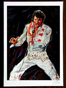 """Painted Stars As Art Graphic, Graphic, """" """" Elvis """" Picture, Signed, Limited,"""