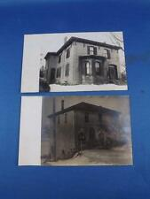 REAL PHOTO POSTCARDS LOT OF 2 OLD HOUSES BUILDINGS HORSE & CART
