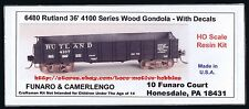 Funaro F&C 6480  RUTLAND Railroad  36' WOOD GONDOLA  4100 Series Kit Steel Frame